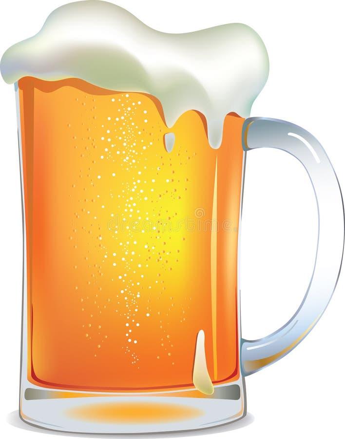 Tazza di birra chiara illustrazione vettoriale