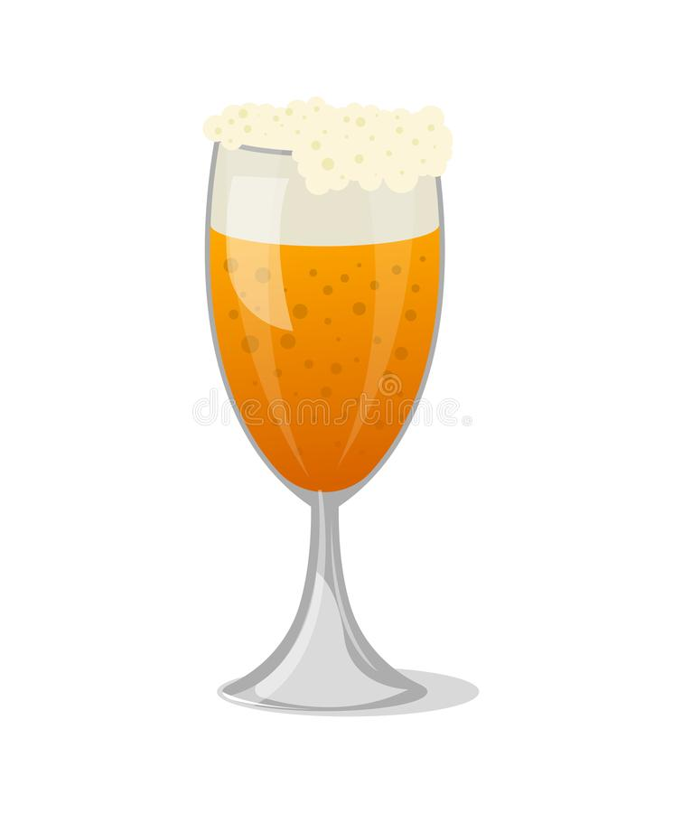 Tazza di birra con l'icona isolata schiuma royalty illustrazione gratis