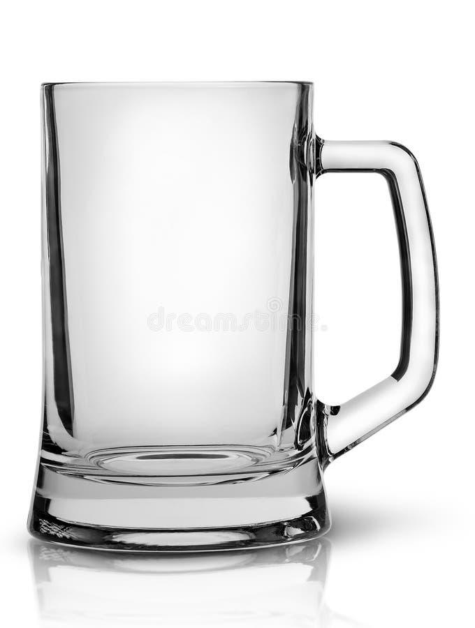 In tazza di birra vuota anteriore fotografia stock libera da diritti