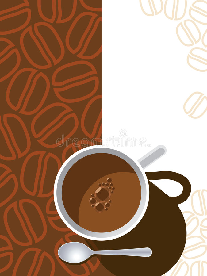 Download Tazza di caffè illustrazione vettoriale. Illustrazione di scuro - 7303414