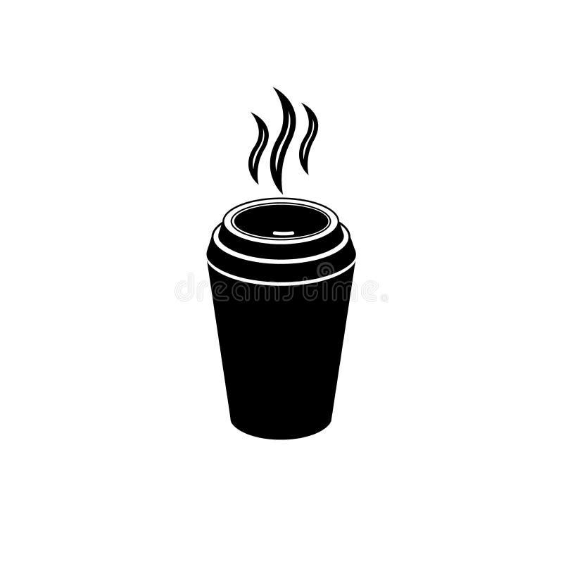 Tazza di caffè bevanda icona Illustrazione di vettore illustrazione di stock
