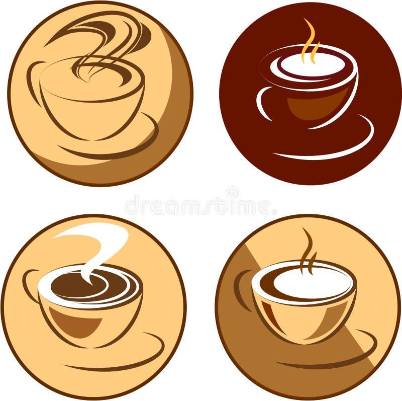 Download Tazza di caffè bianco illustrazione vettoriale. Illustrazione di fagioli - 56880249