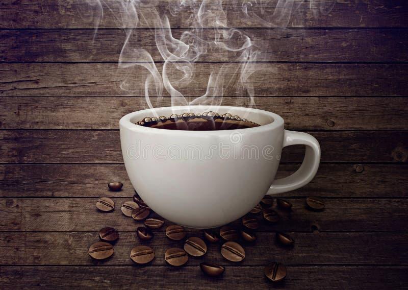 Tazza di caffè bianco illustrazione vettoriale