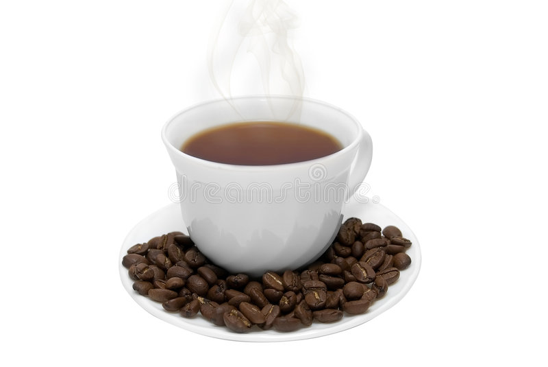 Tazza di caffè bianco perfetta fotografia stock libera da diritti