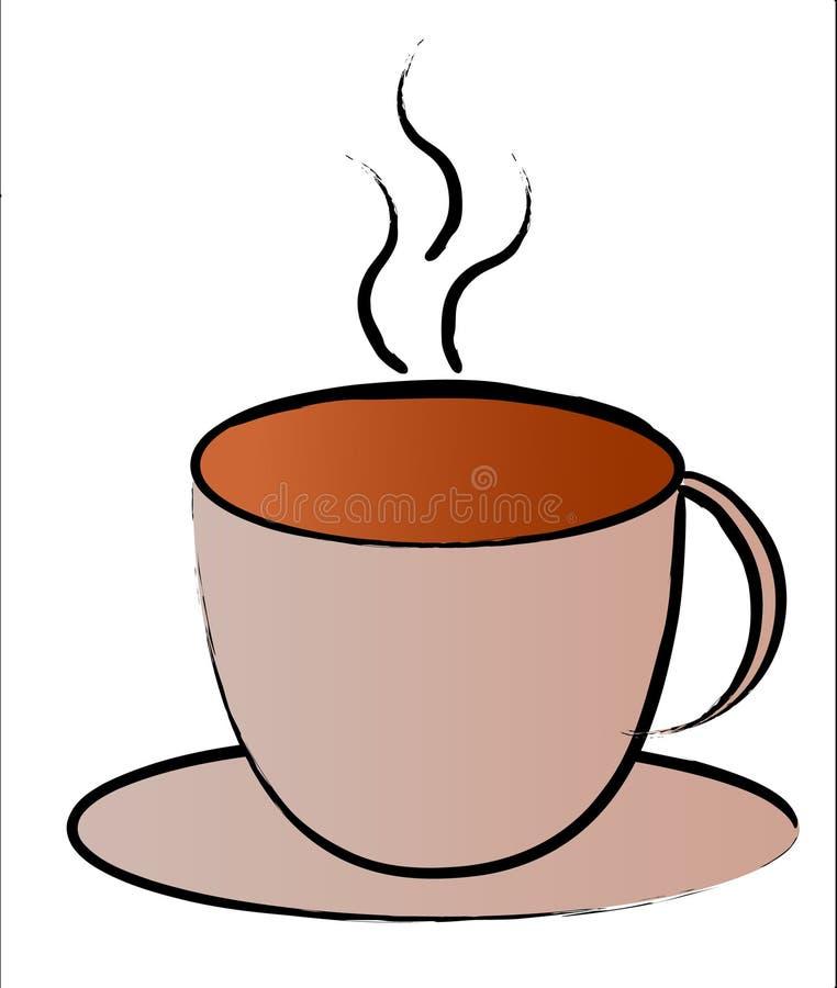 Tazza di caffè calda royalty illustrazione gratis