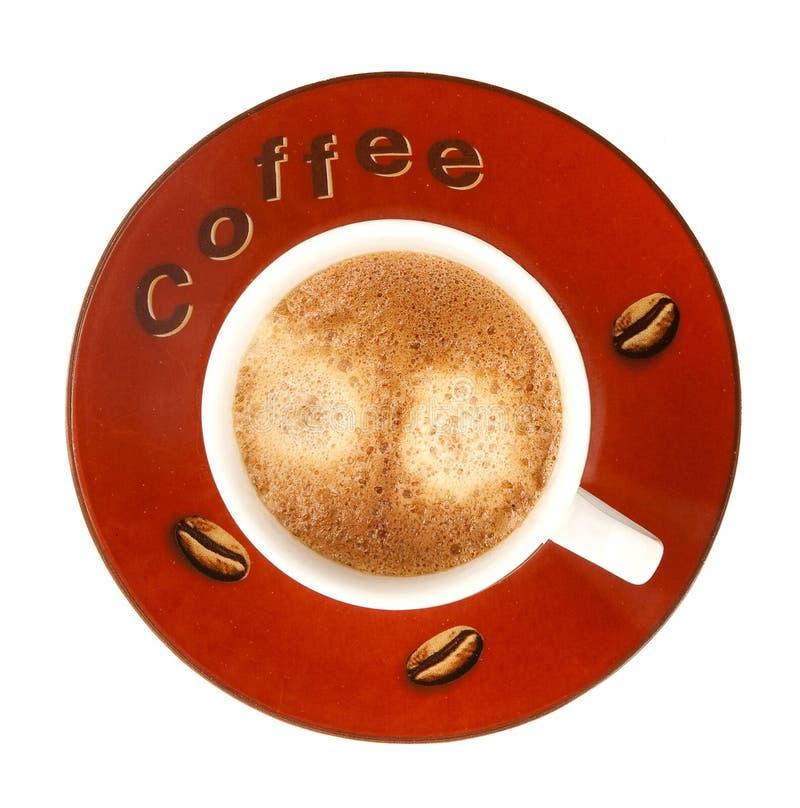 Tazza di caffè con gomma piuma fotografia stock