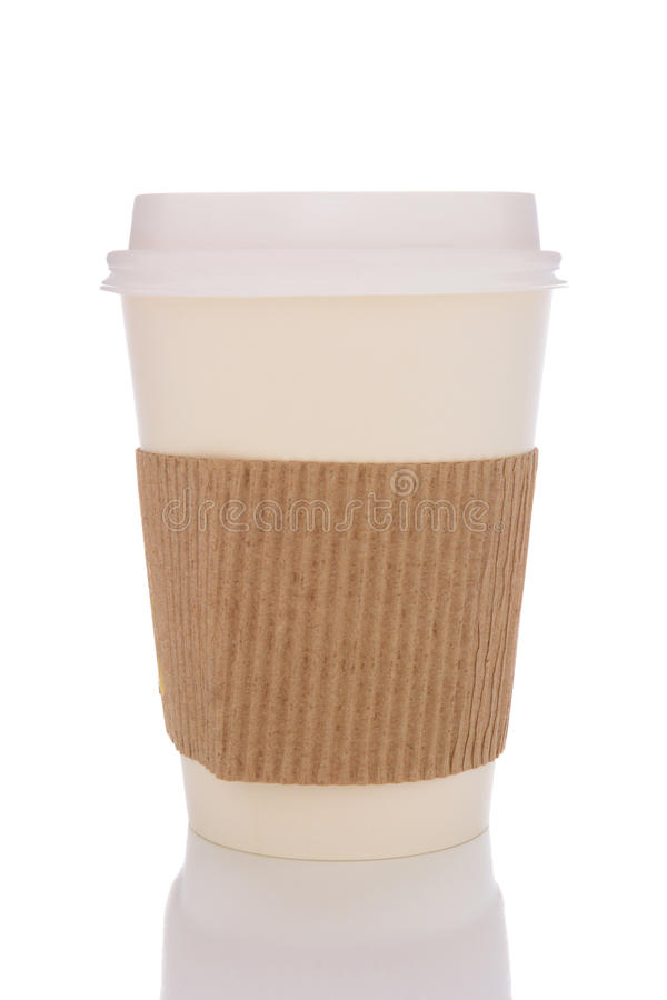 Tazza di caffè con il protettore del cartone fotografie stock libere da diritti