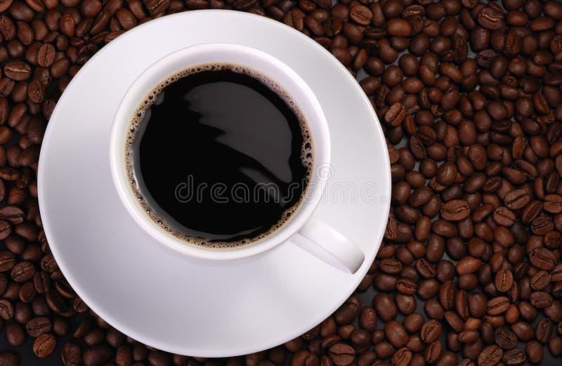 Tazza di caffè con l'onda immagini stock libere da diritti
