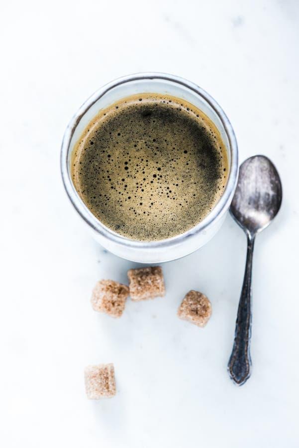 Tazza di caffè da sopra immagine stock libera da diritti