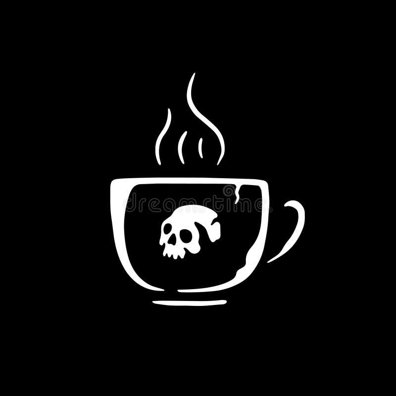 TAZZA DI CAFFÈ DEL CRANIO illustrazione vettoriale