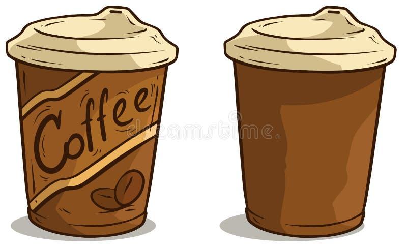 Tazza di caffè del fumetto con l'icona di vettore del coperchio royalty illustrazione gratis