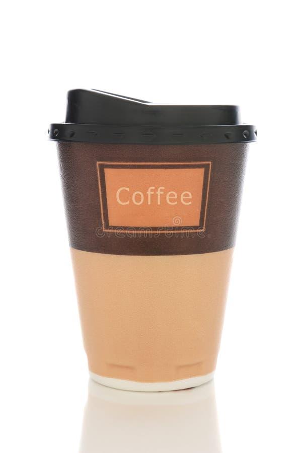 Tazza di caffè della schiuma di stirolo immagini stock libere da diritti