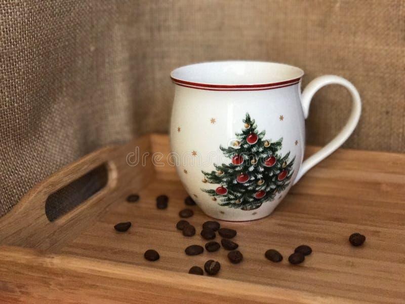 Tazza di caffè di Natale immagini stock libere da diritti