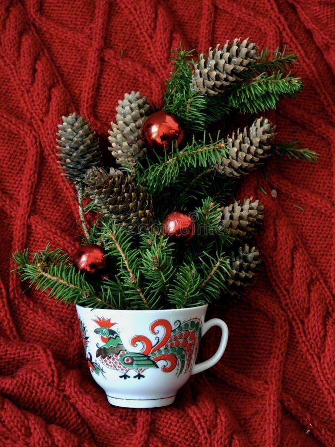 Tazza di caffè di Natale fotografia stock