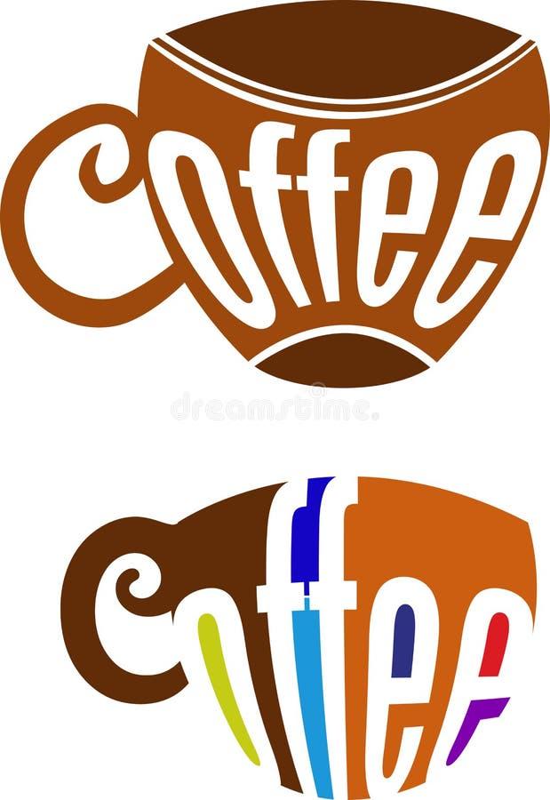 Tazza di caffè di tipografia illustrazione di stock
