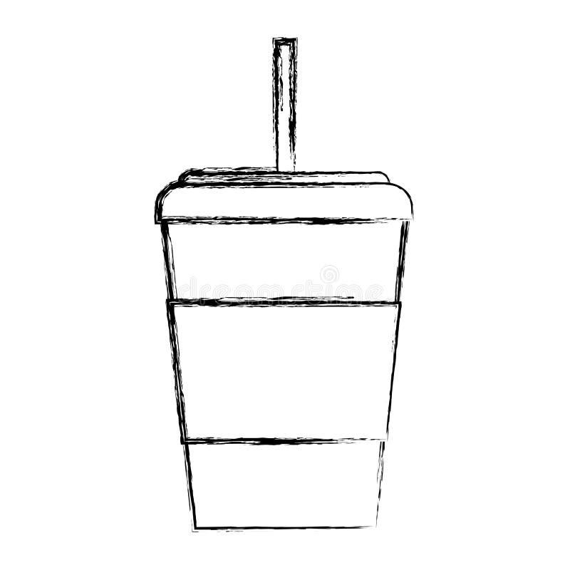 Tazza di caffè eliminabile di tiraggio di schizzo royalty illustrazione gratis