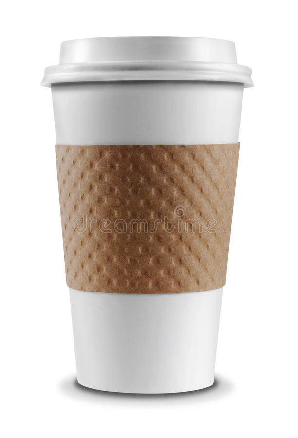 Tazza di caffè isolata immagine stock