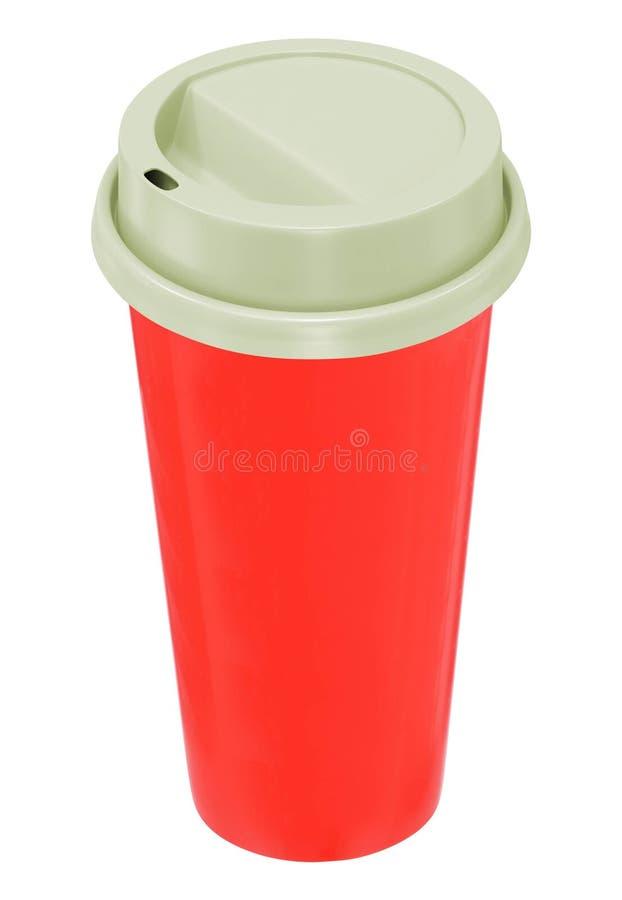 Tazza di caffè isolata su bianco fotografie stock libere da diritti