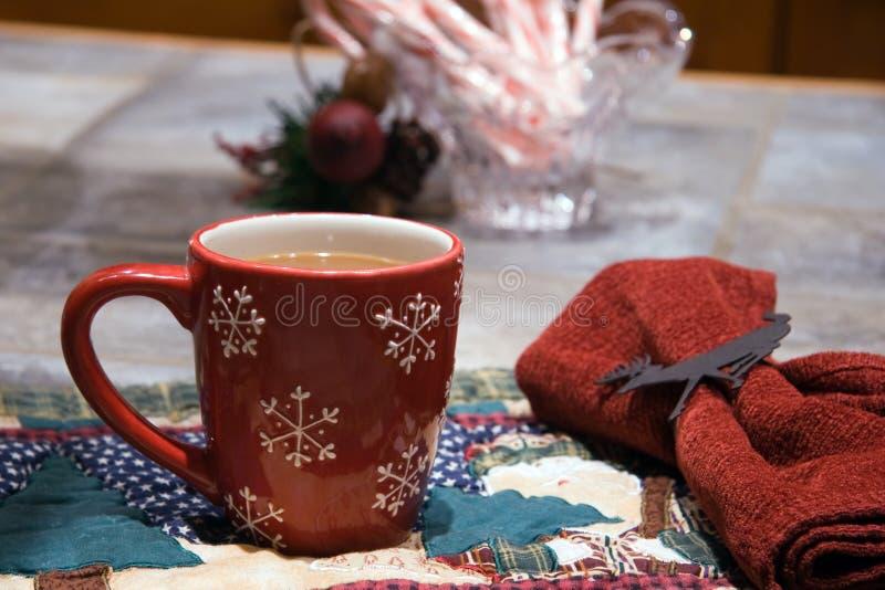 Tazza di caffè - natale fotografia stock