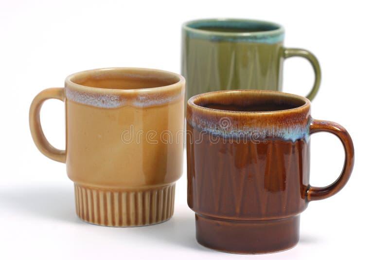 Tazza di caffè sopra bianco fotografie stock