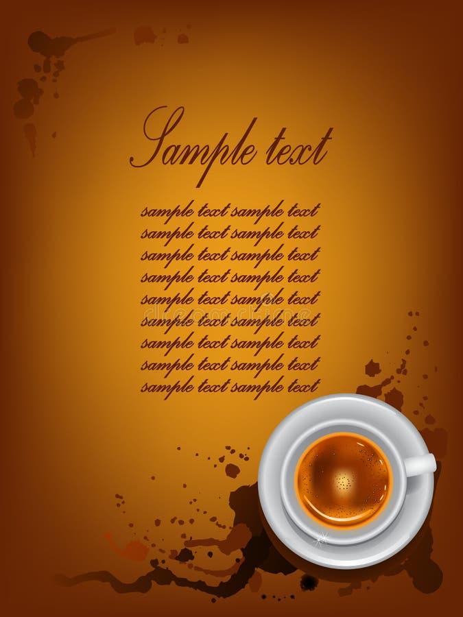 Tazza di caffè su fondo con i punti. illustrazione di stock