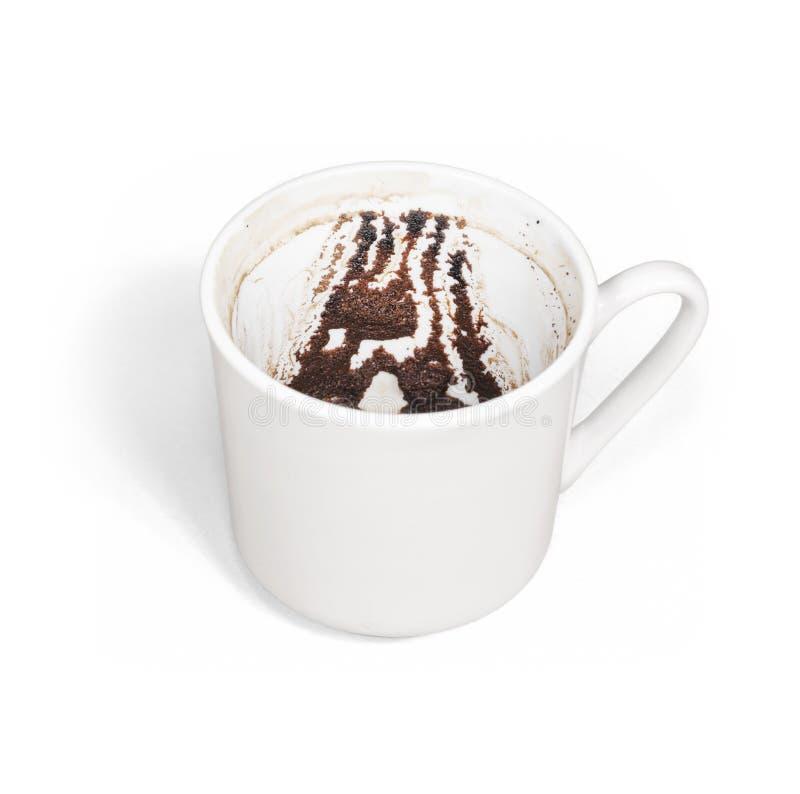 Tazza di caffè turco usata tradizionalmente per la predizione fotografie stock