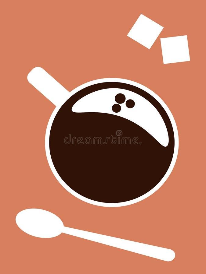 Tazza di caff? sulla tabella illustrazione di stock