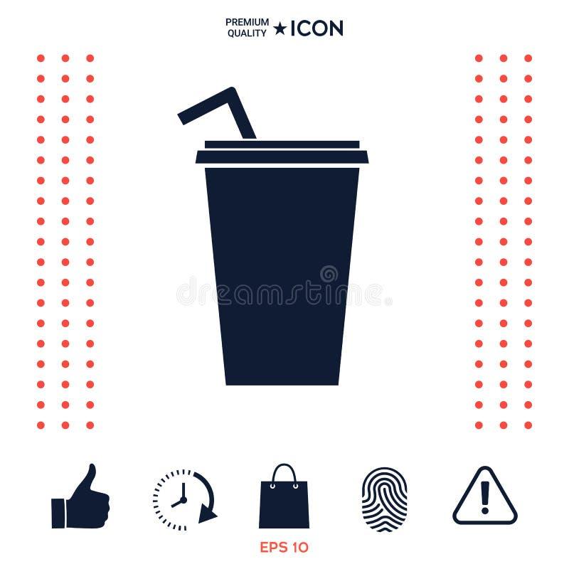 Download Tazza Di Carta Con L'icona Della Cannuccia Illustrazione Vettoriale - Illustrazione di bevanda, icona: 117976169