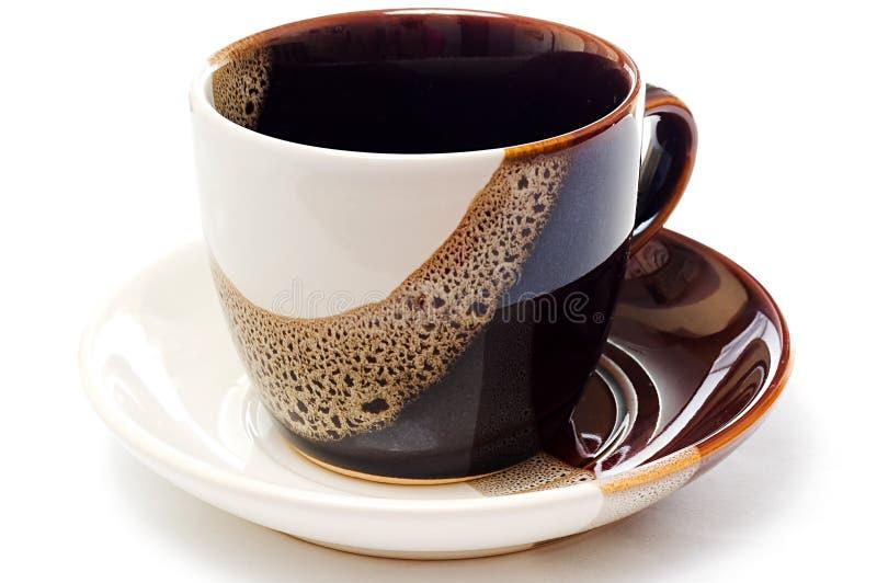 Tazza di ceramica vuota di tè fotografia stock libera da diritti