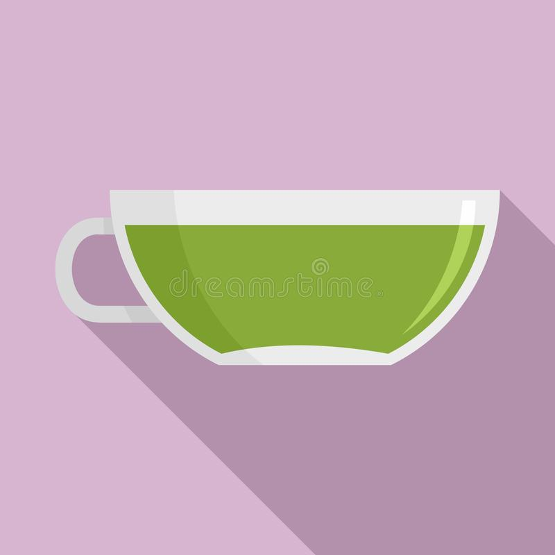 Tazza di Matcha dell'icona del tè, stile piano royalty illustrazione gratis