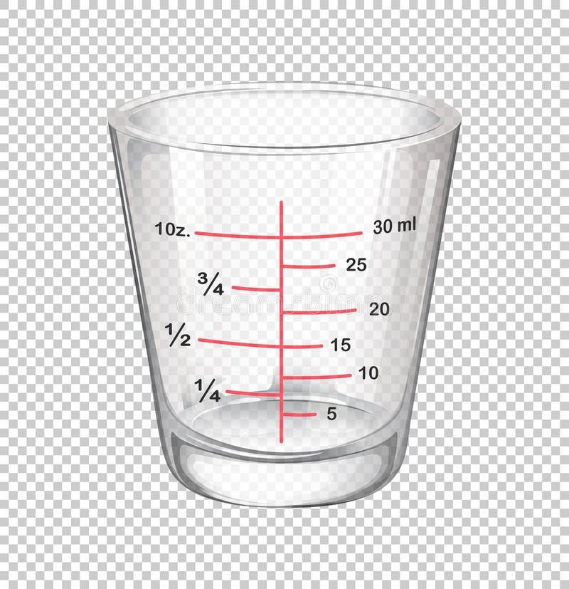 Tazza di misurazione con le scale illustrazione vettoriale