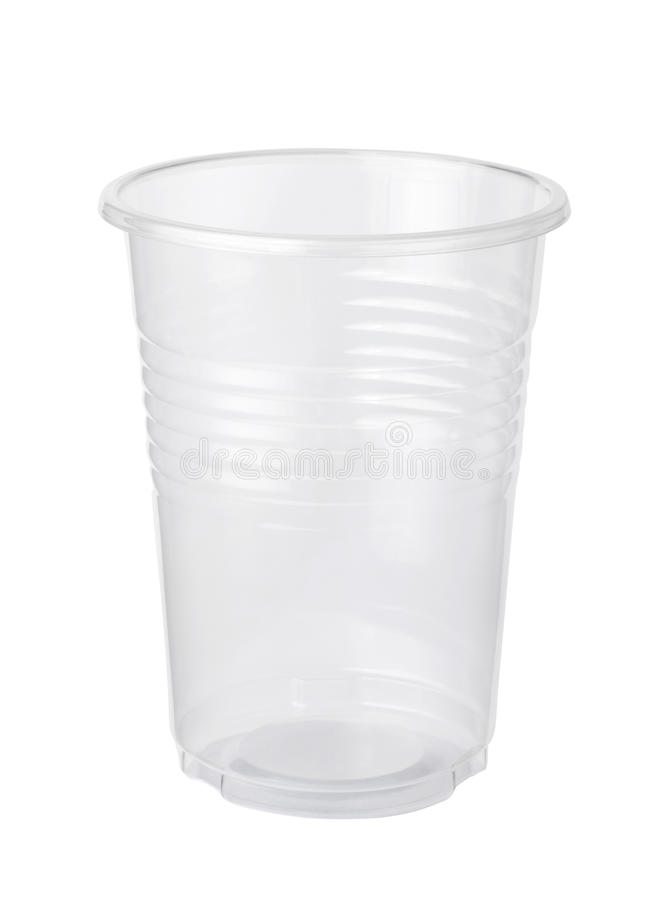 tazza di plastica vuota fotografia stock
