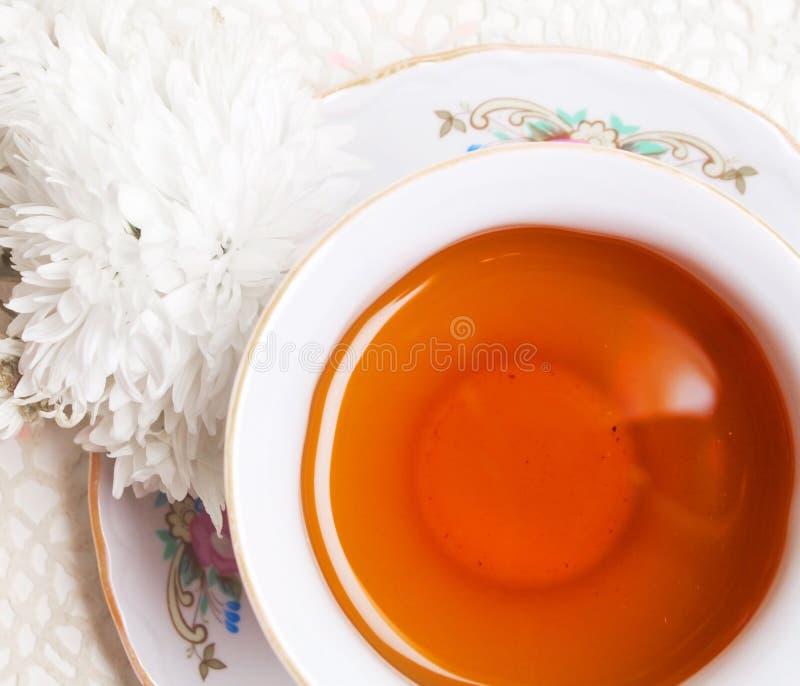 Tazza di tè antica della porcellana immagini stock libere da diritti