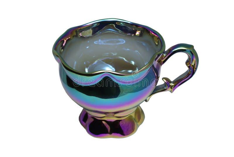 Download Tazza di tè del Chameleon immagine stock. Immagine di dishware - 7322671