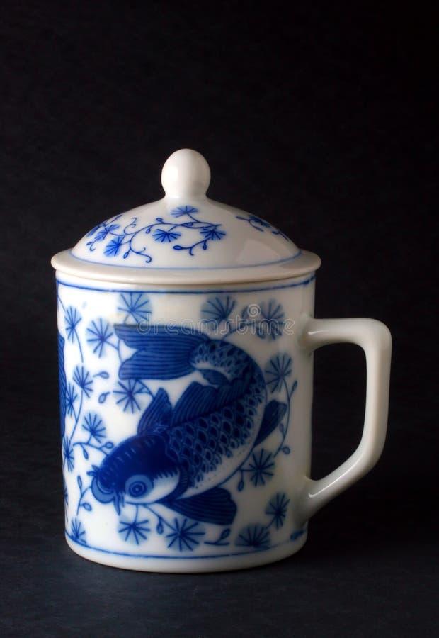 Tazza di tè giapponese immagini stock