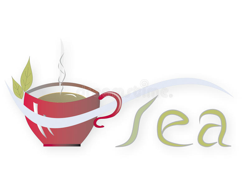 Tazza di tè Illustrazione fotografia stock