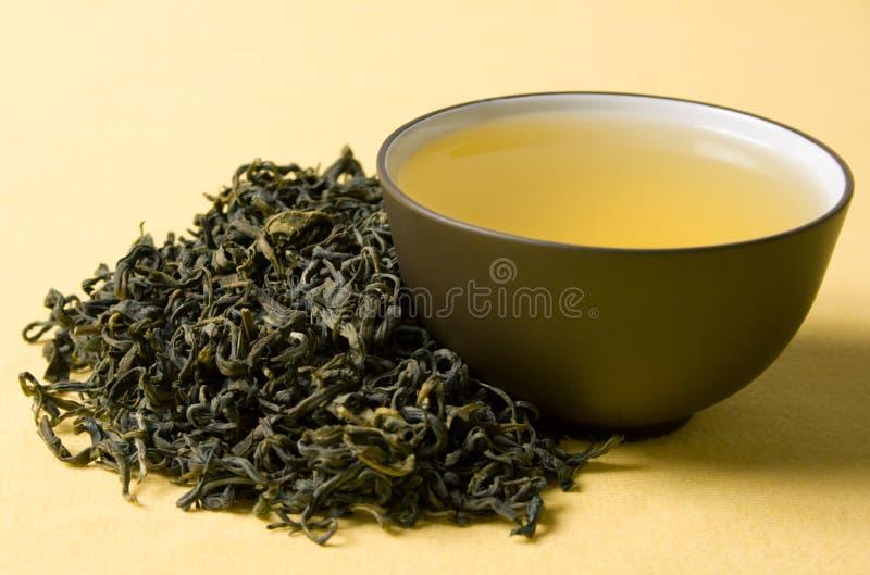 Tazza di tè verde fotografia stock