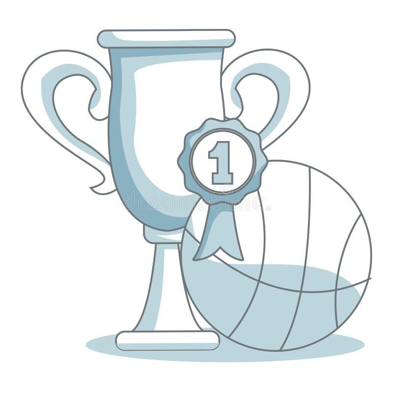 Tazza di torneo di pallacanestro royalty illustrazione gratis