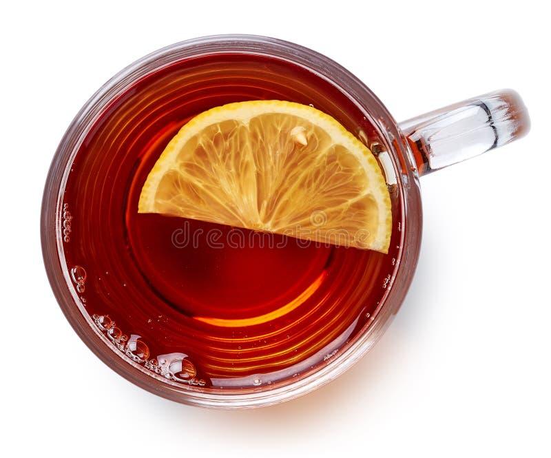 Tazza di vetro di tè nero fotografia stock libera da diritti