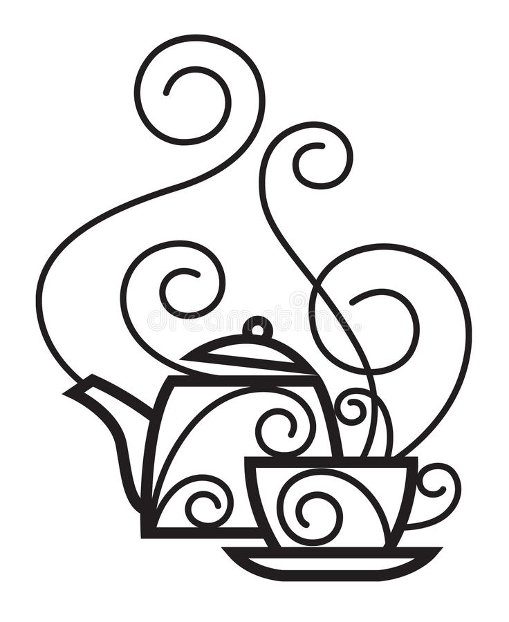 Tazza e caldaia royalty illustrazione gratis