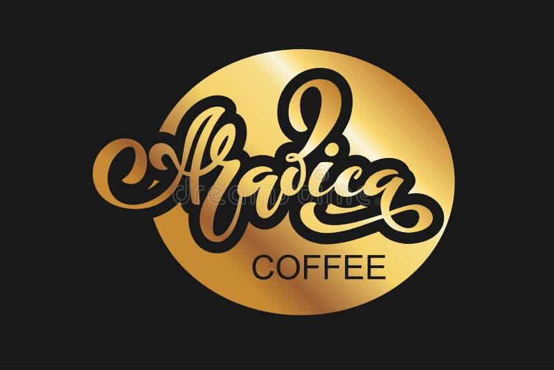 Tazza a forma di del cuore per gli amanti del caffè Illustrazione di vettore di iscrizione scritta a mano elementi per la caffett illustrazione vettoriale