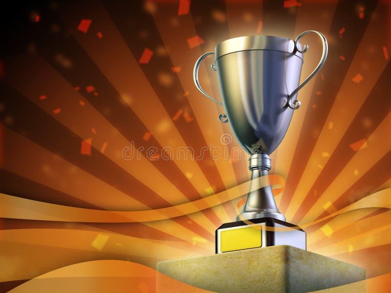 Tazza premiata royalty illustrazione gratis