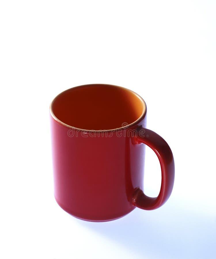 Tazza rossa fotografie stock libere da diritti