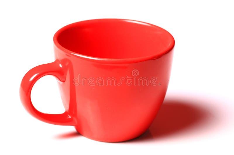 Tazza rossa di plastica fotografie stock libere da diritti