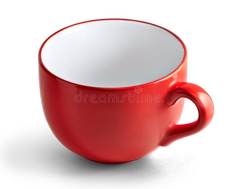 Tazza rossa enorme fotografia stock