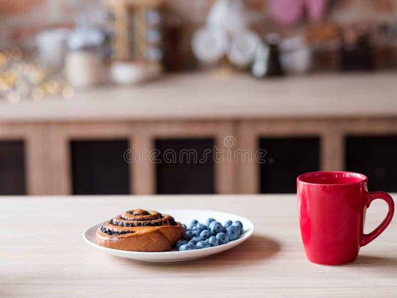 Tazza sana della cucina del pasto di mattina della prima colazione dell'alimento fotografia stock libera da diritti