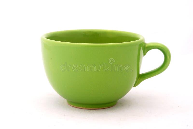 Tazza verde fotografie stock