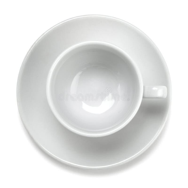 Tazza vuota bianca vuota immagini stock