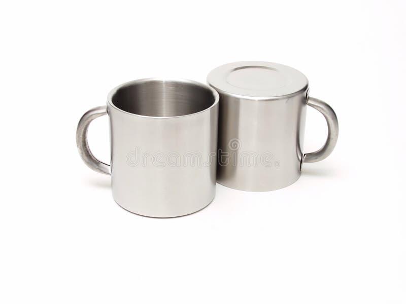 Tazze 154 dell'argento immagini stock