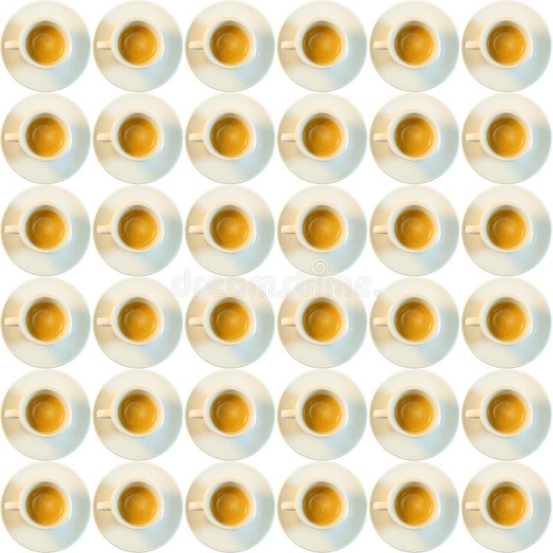 Tazze di caffè su bianco fotografia stock libera da diritti